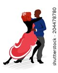 abstract dancing couple   Shutterstock .eps vector #204478780