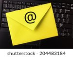 E Mail Concept Yellow Letter O...