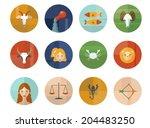 set of astrological zodiac...   Shutterstock .eps vector #204483250