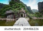 bich dong pagoda in ninh binh ... | Shutterstock . vector #204486226