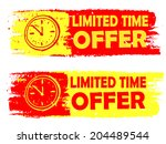 limited time offer with clock... | Shutterstock .eps vector #204489544