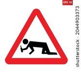 drunk people warning sign.... | Shutterstock .eps vector #2044903373