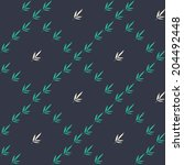 floral seamless pattern with a... | Shutterstock .eps vector #204492448