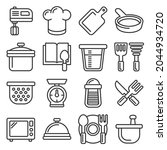 kitchen and cooking icons set... | Shutterstock . vector #2044934720