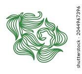 nature decorative element.... | Shutterstock .eps vector #2044967396