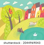 Vector Children's Illustration. ...
