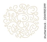 decorative pattern mushrooms.... | Shutterstock .eps vector #2044985399