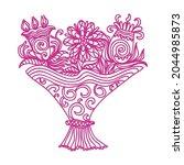 decorative pattern flowers.... | Shutterstock .eps vector #2044985873