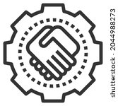 together line icon logo vector .... | Shutterstock .eps vector #2044988273