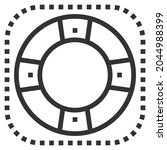 support line icon logo vector . ... | Shutterstock .eps vector #2044988399