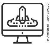 explore line icon logo vector . | Shutterstock .eps vector #2044989170