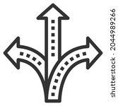 crossroad line icon logo vector ... | Shutterstock .eps vector #2044989266
