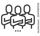 team leadership line icon logo... | Shutterstock .eps vector #2044989530