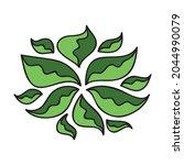 nature decorative element.... | Shutterstock .eps vector #2044990079