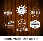 vintage summer holidays...   Shutterstock .eps vector #204501514