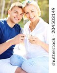 a picture of an adult couple... | Shutterstock . vector #204503149