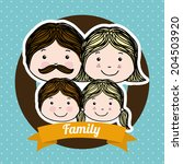 family design over blue... | Shutterstock .eps vector #204503920