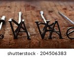 two branding irons for cattle... | Shutterstock . vector #204506383
