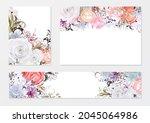 minimal wedding invitation... | Shutterstock .eps vector #2045064986