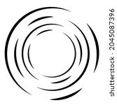cyclical circle  helix  volute... | Shutterstock .eps vector #2045087396