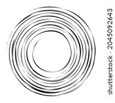 cyclical circle  helix  volute... | Shutterstock .eps vector #2045092643