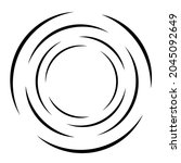 cyclical circle  helix  volute... | Shutterstock .eps vector #2045092649
