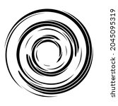 cyclical circle  helix  volute... | Shutterstock .eps vector #2045095319