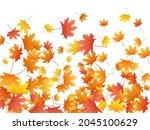maple leaves vector background  ... | Shutterstock .eps vector #2045100629