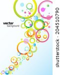 background with colored squares ...   Shutterstock .eps vector #204510790