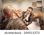 Stock photo business fight 204511573
