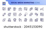 outline icons about social... | Shutterstock .eps vector #2045153090