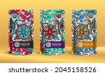 colorful tea packaging design... | Shutterstock .eps vector #2045158526