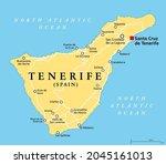 tenerife island  political map  ... | Shutterstock .eps vector #2045161013