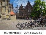 Small photo of Munster, Germany North Rhine-Westphalia August 15, 2021 St Lambert's Church is a Roman Catholic church building