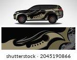 wrap car vector design decal.... | Shutterstock .eps vector #2045190866