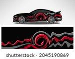 wrap car vector design decal.... | Shutterstock .eps vector #2045190869