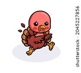 Cute Baby Turkey Cartoon Running