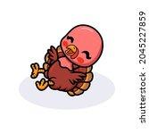 Cute Happy Baby Turkey Cartoon