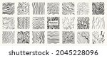 set of  liquid hand drawn... | Shutterstock .eps vector #2045228096