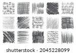 sketch pencil texture set. pen... | Shutterstock .eps vector #2045228099