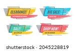 flat promotion original banner  ... | Shutterstock .eps vector #2045228819