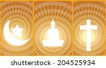 three religions are the most... | Shutterstock .eps vector #204525934