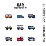 cars icon set on white... | Shutterstock .eps vector #2045265149