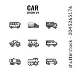cars icon set on white... | Shutterstock .eps vector #2045265176