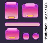 game ui buttons set pink purple ...