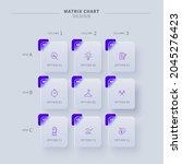 glassmorphic matrix chart with...