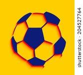 vector creative football design ... | Shutterstock .eps vector #204527764