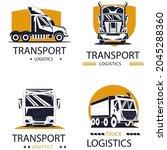 logo design set for transport... | Shutterstock .eps vector #2045288360