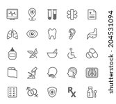 set of outline stroke medical... | Shutterstock .eps vector #204531094