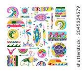 surfing background. tribal... | Shutterstock .eps vector #2045324579